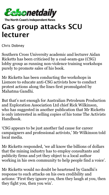 Gas group attacks SCU lecturer
