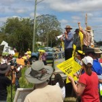 Aidan Ricketts speaks at Metgasco protest, Casino NSW, 7 Nov 2012