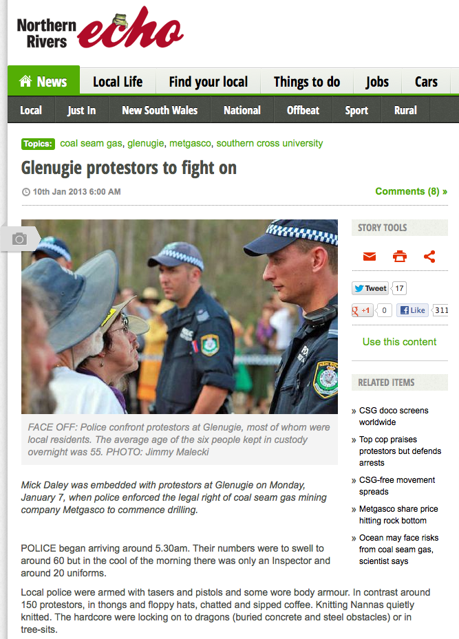 Glenugie protestors to fight on - The Echo