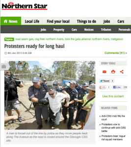 Protesters ready for the long haul - Northern Star