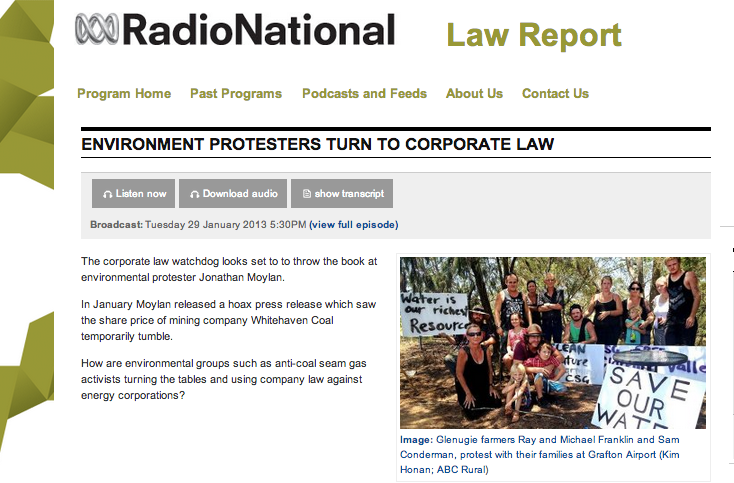 ABC Radion National Law Report