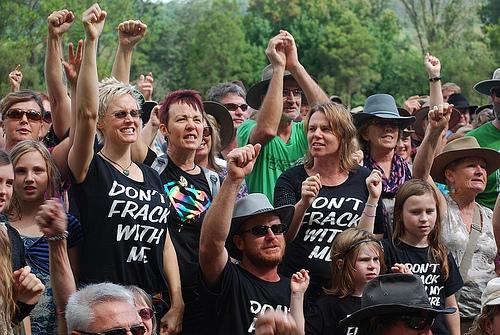 Community protest against fracking