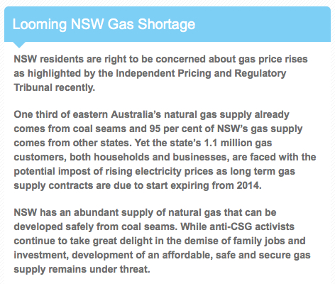 From the front page of the website for the Australian Petroleum Production & Exploration Association (APPEA), the peak national body representing Australia's upstream oil and gas industry. http://www.naturalcsg.com.au/