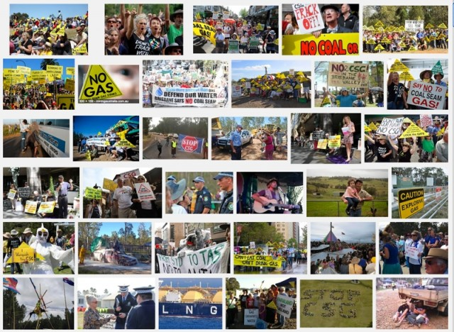 CSG Protest image collage