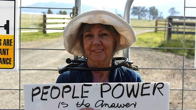 Protester Sharyn Munro