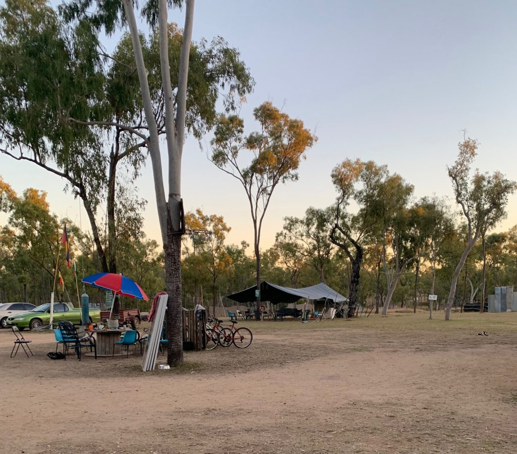 Clean, calm and comforting. Camp Binbee - anti-Adani base camp in North Queesnland.