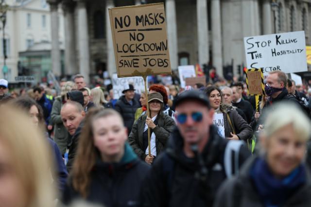 Covid lockdown protest